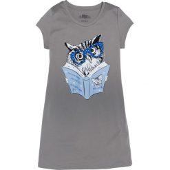 Koszula nocna bonprix szary z nadrukiem. Szare koszule nocne i halki bonprix, z nadrukiem, z materiału. Za 34,99 zł.