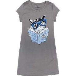 Bielizna nocna: Koszula nocna bonprix szary z nadrukiem