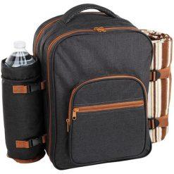 Plecak piknikowy z akcesoriami - (S)40 x (W)40 x (G)22 cm. Brązowe plecaki męskie Przygotowania do majówki, z materiału. W wyprzedaży za 279,95 zł.