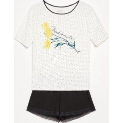 Piżama z szortami - Biały. Białe piżamy damskie Reserved, l. W wyprzedaży za 59,99 zł.