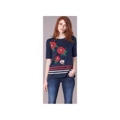 T-shirty z krótkim rękawem Desigual  JOIDEBU. Szare t-shirty damskie marki Desigual, l, z tkaniny, casualowe, z długim rękawem. Za 186,75 zł.