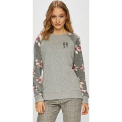 Roxy - Bluza. Szare bluzy rozpinane damskie Roxy, l, z bawełny, bez kaptura. W wyprzedaży za 179,90 zł.