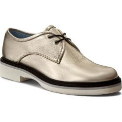 Oxfordy POLLINI - SA10113G11TG0110 W.Shoe. Żółte jazzówki damskie Pollini, ze skóry, na płaskiej podeszwie. W wyprzedaży za 649,00 zł.