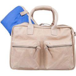 Torby na ramię męskie: Skórzana torba w kolorze beżowym do przewijania – 39 x 28 x 14 cm