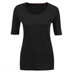 S.Oliver T-Shirt Damski 40 Czarny. Czarne t-shirty damskie S.Oliver, s, z bawełny. W wyprzedaży za 39,00 zł.