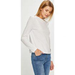 Calvin Klein Jeans - Bluzka. Szare bluzki z odkrytymi ramionami marki Calvin Klein Jeans, l, z bawełny, casualowe, z okrągłym kołnierzem. Za 199,90 zł.