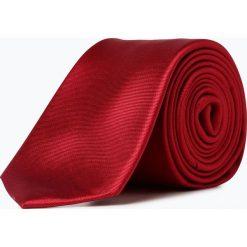 Akcesoria męskie: Finshley & Harding London - Krawat jedwabny męski ze spinką, czerwony