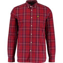 Koszule męskie na spinki: Lyle & Scott CHECK Koszula pomegranate
