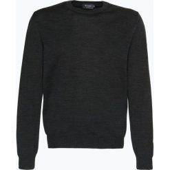 März - Męski sweter z wełny merino, szary. Szare swetry klasyczne męskie März, m, z wełny, z klasycznym kołnierzykiem. Za 399,95 zł.