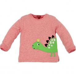 """Bluza """"Dino"""" w kolorze jasnoróżowym. Czerwone bluzy dziewczęce rozpinane marki Bondi, z aplikacjami, z bawełny. W wyprzedaży za 45,95 zł."""