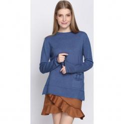 Niebieski Sweter Misconceiving. Niebieskie swetry klasyczne damskie marki Born2be, na jesień, l. Za 39,99 zł.