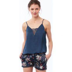 Etam - Top piżamowy Cylia. Niebieskie piżamy damskie marki Etam, l, z bawełny. Za 89,90 zł.