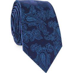 KRAWAT KWGR001636. Niebieskie krawaty męskie Giacomo Conti, z mikrofibry. Za 69,00 zł.