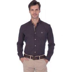 """Koszule męskie na spinki: Koszula """"Footwork"""" w kolorze ciemnobrązowym"""