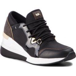 Sneakersy MICHAEL MICHAEL KORS - Liv Trainer 43F8SCFS3D  Black. Czarne sneakersy damskie marki MICHAEL Michael Kors, z gumy, przed kolano, na wysokim obcasie. Za 779,00 zł.