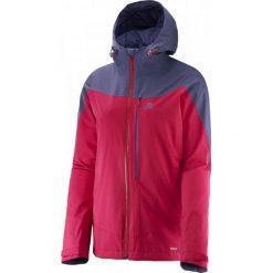 Salomon Kurtka La Cote Jkt W Lotus Pink/Artist Grey-X S. Czarne kurtki sportowe damskie marki Salomon, z gore-texu, na sznurówki, outdoorowe, gore-tex. W wyprzedaży za 549,00 zł.