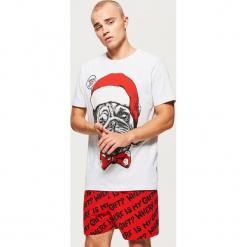 Świąteczna piżama dwuczęściowa - Szary. Szare piżamy męskie marki Cropp, l. Za 79,99 zł.
