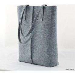 Duża Torebka - Totalnie Minimalistyczna -Wysoka. Szare torebki klasyczne damskie Pakamera, duże. Za 79,00 zł.