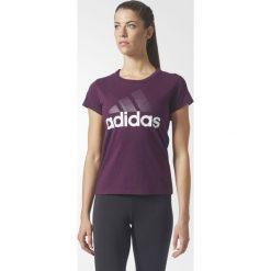 KOSZULKA ADIDAS  - KR.REKAW REDNIT/WHITE. Białe bluzki z odkrytymi ramionami Adidas, z bawełny, z krótkim rękawem. Za 59,99 zł.