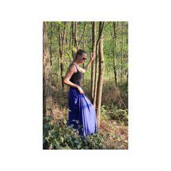 Długa zwiewna spódnica chaber. Niebieskie długie spódnice Szarymary, na lato, m, z gumy. Za 119,00 zł.