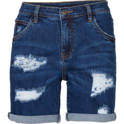 """Szorty dżinsowe bonprix niebieski """"stone"""". Niebieskie bermudy damskie bonprix, z jeansu. Za 109,99 zł."""