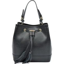 Torebki klasyczne damskie: Skórzana torebka w kolorze czarnym – (S)27 x (W)29 x (G)17,5 cm