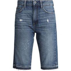 GStar 3301 HIGH STRAIGHT SHORT RP Szorty jeansowe medium aged painted. Niebieskie szorty jeansowe damskie marki G-Star. Za 419,00 zł.