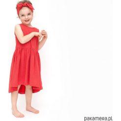 Sukienki dziewczęce wizytowe: sukienka summer czerwona polka dot