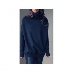 Czarny golf buka bluza oversize. Szare długie bluzy damskie One mug a day, uniwersalny, z bawełny. Za 259,00 zł.