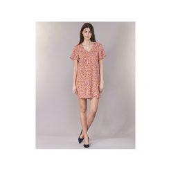Sukienki krótkie Vero Moda  VMKARINA. Brązowe sukienki mini Vero Moda, l, z krótkim rękawem. Za 143,20 zł.