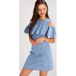 Sukienki hiszpanki: Miss Selfridge Petite COLD SHOULDER Sukienka jeansowa blue