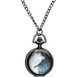 Mysterium® Wolves Pack Pocket Watch Zegarek - Naszyjnik czarny. Czarne naszyjniki damskie marki Mohito. Za 62,90 zł.