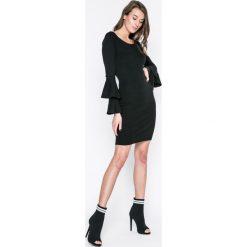 Haily's - Sukienka Liz. Czarne długie sukienki Haily's, na co dzień, l, z dzianiny, casualowe, z długim rękawem, dopasowane. W wyprzedaży za 69,90 zł.