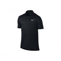 Koszulka tenisowa Nike Dry Team. Czarne t-shirty damskie marki Nike, l, z materiału. W wyprzedaży za 99,99 zł.