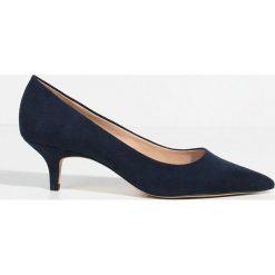 Parfois - Czółenka. Szare buty ślubne damskie marki Parfois, z materiału, na obcasie. W wyprzedaży za 49,90 zł.