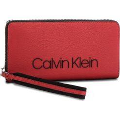 Portfele damskie: Duży Portfel Damski CALVIN KLEIN BLACK LABEL – Pop Touch Large Zipa K60K604309  627