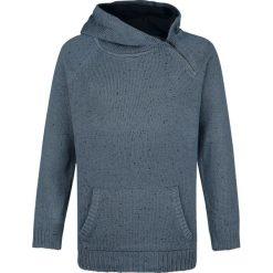 Bluzy męskie: Urban Surface Raglan Zip Hoodie Bluza z kapturem niebieski
