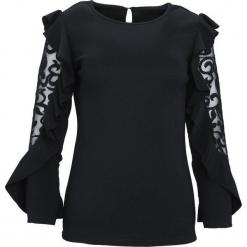 Czarna Koszula Solemnly. Czarne koszule damskie Born2be, l, z koronki, wizytowe, z okrągłym kołnierzem. Za 49,99 zł.