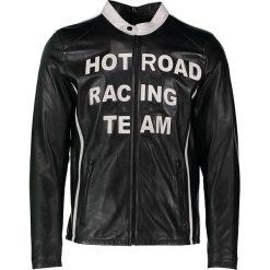 """Kurtki męskie bomber: Skórzana kurtka """"Hot Road"""" w kolorze czarnym"""
