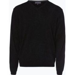 Finshley & Harding - Sweter męski z kaszmiru i jedwabiu, szary. Szare swetry klasyczne męskie Finshley & Harding, l, z dzianiny. Za 399,95 zł.