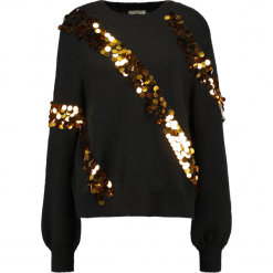 Swetry klasyczne damskie: Ivyrevel TIMES  Sweter black/gold