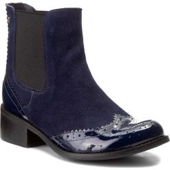 Sztyblety MACCIONI - 138 Niebieski. Niebieskie botki damskie na obcasie Maccioni, z lakierowanej skóry. W wyprzedaży za 269,00 zł.