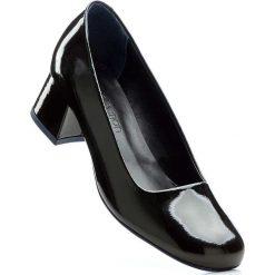 Buty ślubne damskie: Czółenka skórzane bonprix czarny