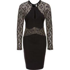 Sukienka z połyskującą koronkową wstawką bonprix czarny. Niebieskie sukienki balowe marki bonprix, z nadrukiem. Za 149,99 zł.