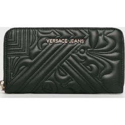 Versace Jeans - Portfel. Szare portfele damskie Versace Jeans, z jeansu. W wyprzedaży za 259,90 zł.