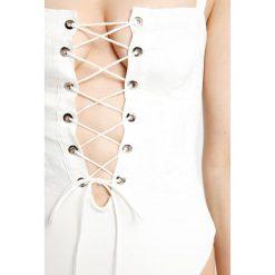 For Love & Lemons POPPY CORSET BODYSUIT Body ivory. Białe bluzki body For Love & Lemons, z bawełny. W wyprzedaży za 687,20 zł.