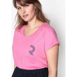 T-shirty damskie: Gładki T-shirt z okrągłym dekoltem, z krótkim rękawem