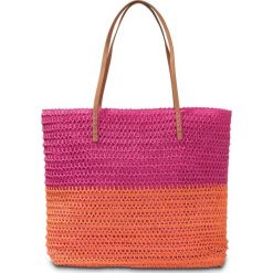 Torba plażowa bonprix pomarańczowo-różowy. Brązowe torby plażowe marki bonprix. Za 49,99 zł.