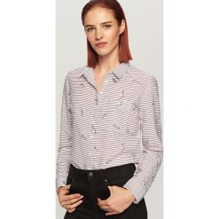 Koszula w paski - Bordowy. Czerwone koszule damskie Reserved, w paski. Za 59,99 zł.