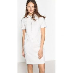 Sukienki hiszpanki: Prosta sukienka zapinana z przodu na zamek błyskawiczny, 50% lyocell